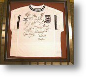 Framed England Football Shirt